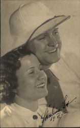 1936 Signed Photo, Actors? Man in Pith Helmet, Woman
