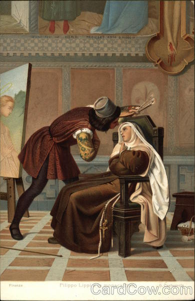 A Medieval Painter with Nun Religious