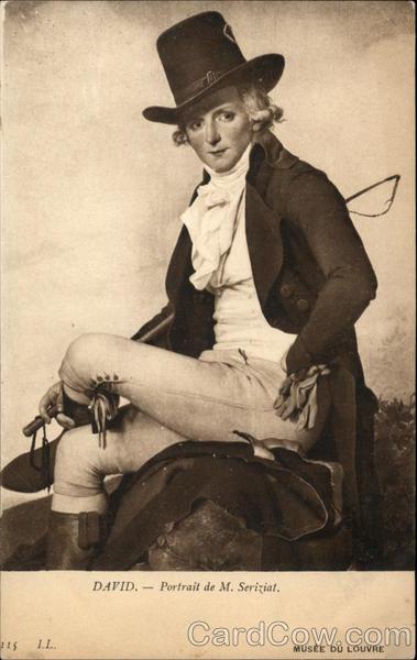 David - Portrait de M. Seriziat Vintage Postcard