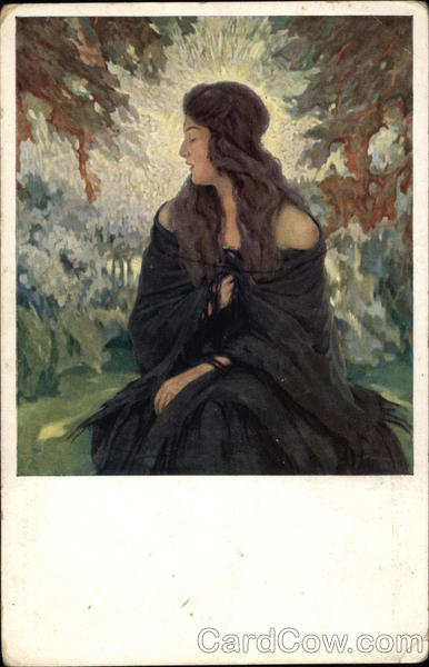 Portrait of Raven Haired Woman Wearing Black Women