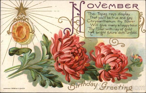 November Birthday Greeting