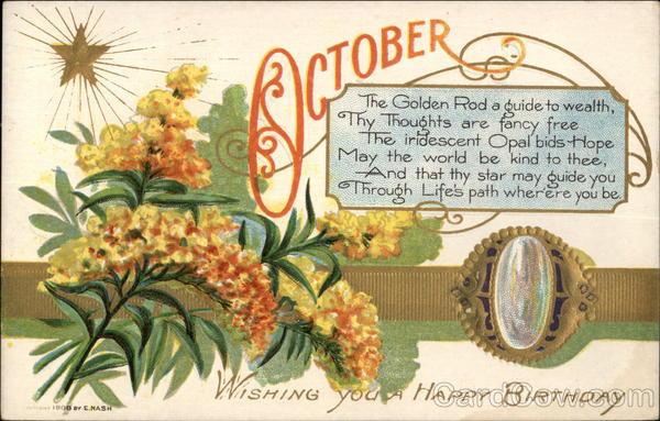 October Birthday Ecards ~ Wishing you a happy birthday october