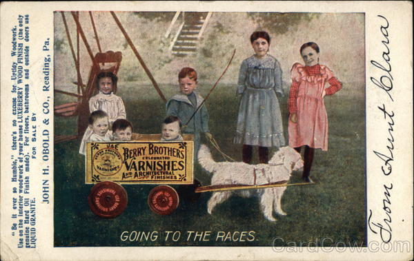 Berry Brothers Varnishes - Children & Dog Cart Advertising
