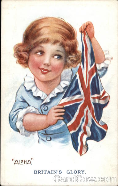 Britain's Glory - Child holding Britain's Flag Flags