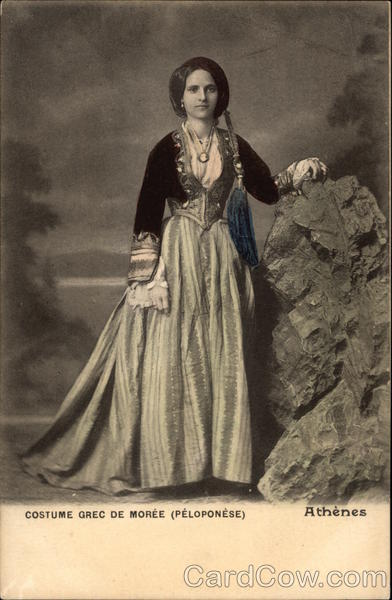 Portrait of Woman in Traditional Greek Attire