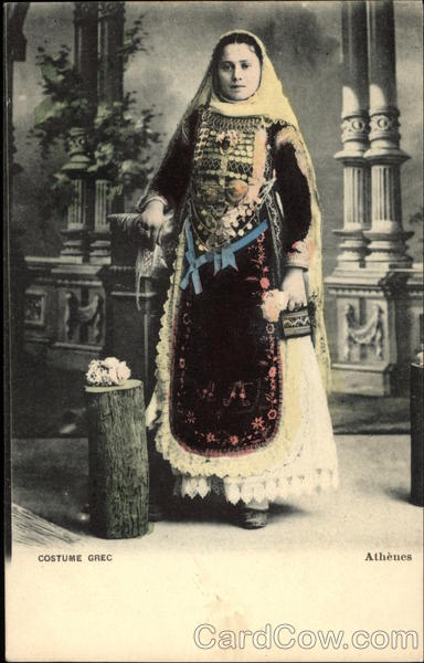 Woman in Traditional Greek Attire