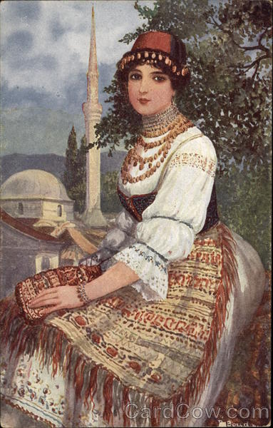 Bosnian Woman in Traditional Clothing