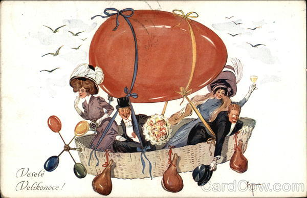 Happy Easter! - Couples in Egg-Shaped Hot Air Balloon