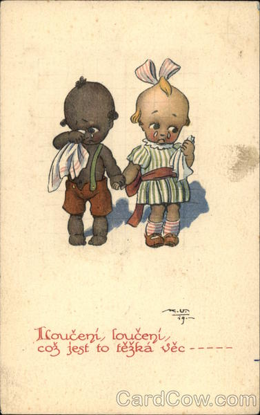 Saying Goodbye Black Boy Amp White Girl Kewpie Kids Children