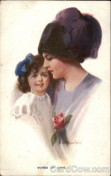 Mother and Child with Rose C. W. Barber Women