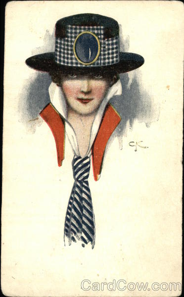 Portrait of Woman in Hat and Tie Women
