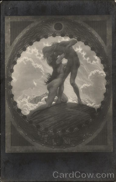 The Earth - Nude Man & Woman Embracing Fidus