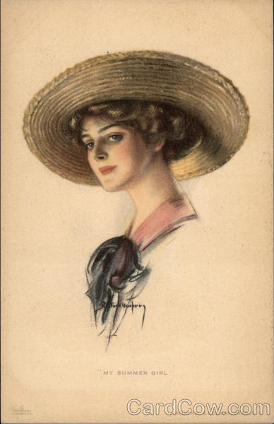 My Summer Girl - Blonde in a Straw Hat Women