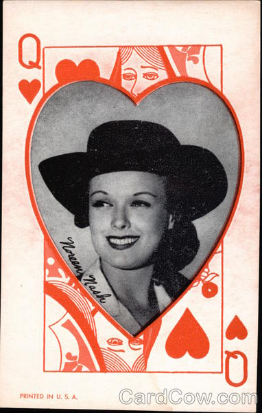 Photograph of Noreen Nash on Queen of Hearts Background