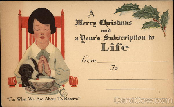 A Merry Christmas and a Year's Subscription to Life