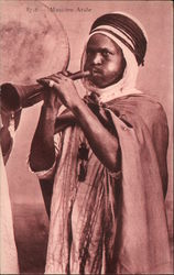 Arab Musician with Horn