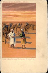 Arab Men with Camels in the Desert