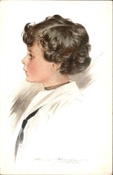 """Our Sunshine"" - Profile Portrait of a Young Boy with Black Curls"