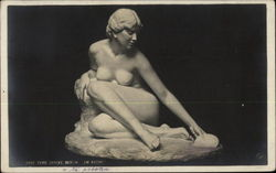 Statue of Nude Woman Kneeling