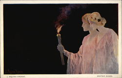 """Kindred Spirits"" - Two Women with Candle Postcard"