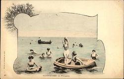 Bathers Diving - Boats & Women in the Water