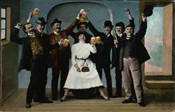Men And Woman Celebrating With Beer
