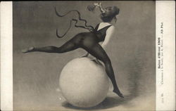 Woman Dancing over a Ball