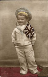 Boy with British Flag