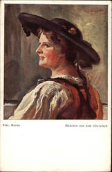 Painting of German Woman in Profile