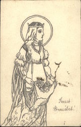 Sketch of Medieval Woman of Royalty