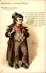 The Artful Dodger - Characters from Charles Dickens Postcard