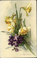 Bouquet of Daffodils and Violets