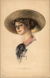 """My Summer Girl"" - Blonde in a Straw Hat Postcard"