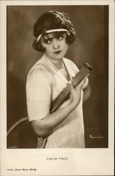 Photograph of Liane Haid in Tennis Attire Postcard