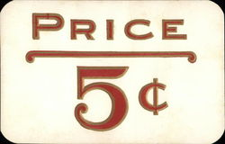 Price Tag of 5 cents