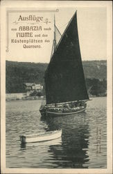 German Sailboat and Rowboat on the Water