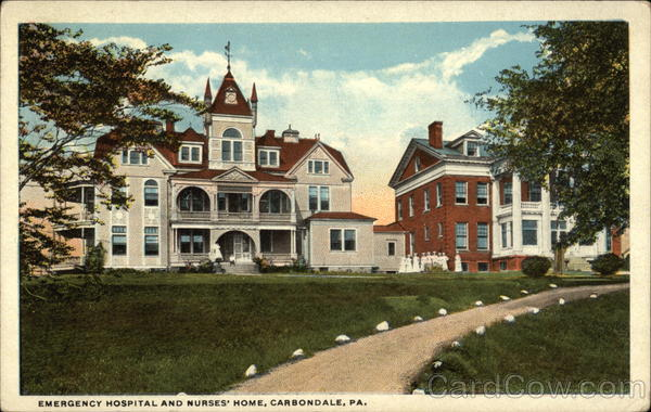 Emergency Hospital and Nurses' Home Carbondale Pennsylvania