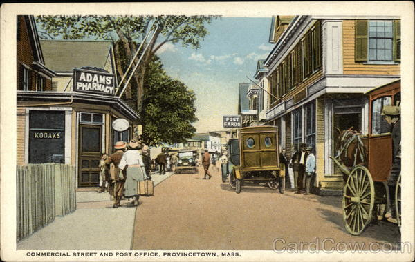 Commercial Street and Post Office Provincetown Massachusetts