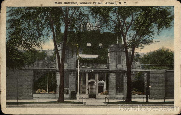 Main Entrance of the Auburn Prison New York Prisons