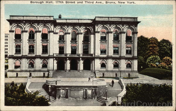 Borough Hall, 177th Street and Third Avenue Bronx New York