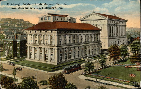 Pittsburgh Athletic Club, Masonic Temple and University Club Pennsylvania