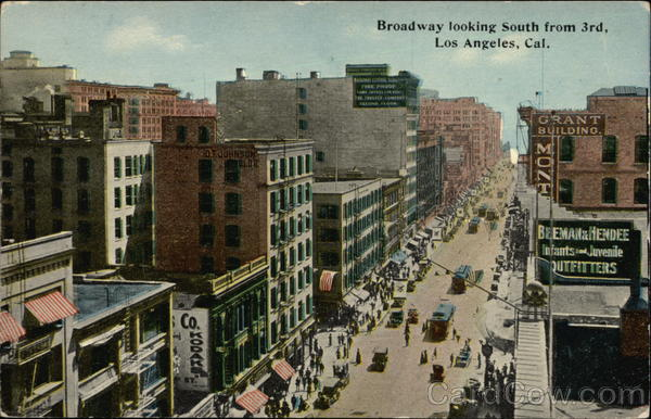 Broadway Looking South from 3rd Los Angeles California