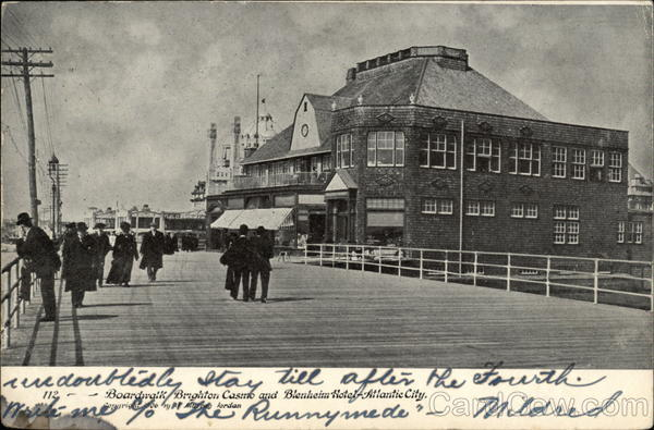 Boardwalk, Brighton Casino and Blenheim Hotel Atlantic City New Jersey