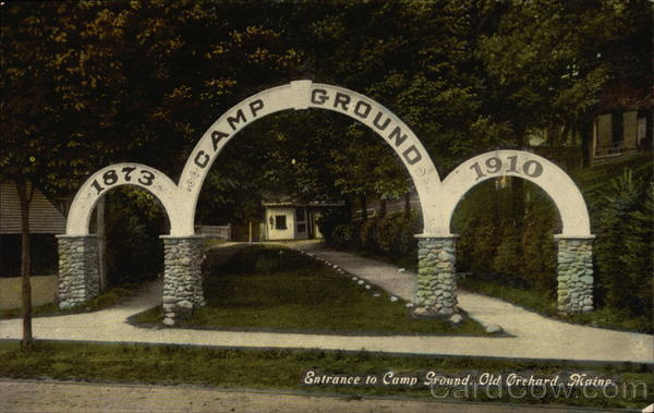 Entrance to Camp Ground Old Orchard Beach Maine