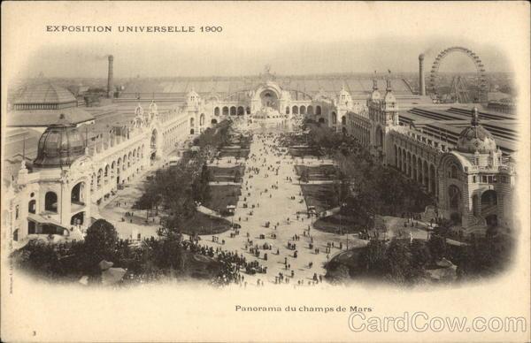 Panorama due champs de mars 1900 paris exposition for Expo paris mars