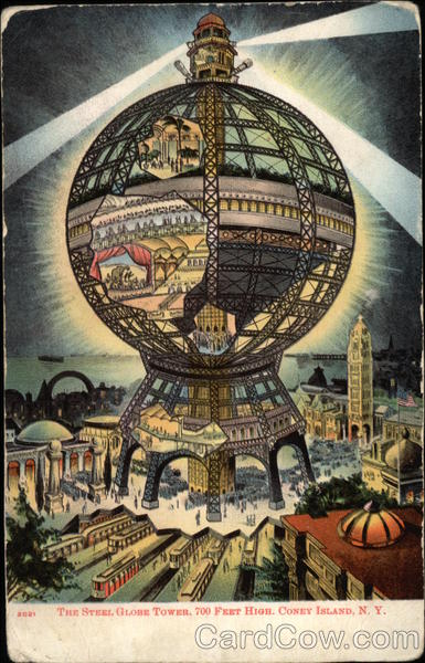 The Steel Globe Tower Old Postcard