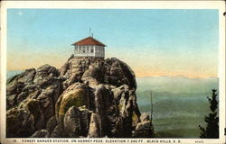 Forest Ranger Station, On Harney Peak, Elevation 7240 FT