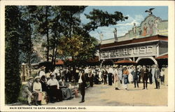 Main Entrance to Bath House Postcard