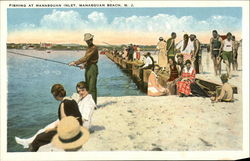 Fishing at Manasquan Inlet Postcard