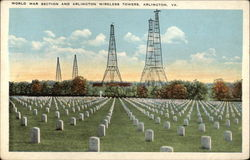 World War Section and Arlington Wireless Towers